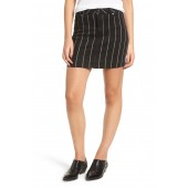Stripe Denim Miniskirt