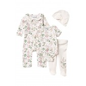 4-Piece Coverall Set (Baby Girls)