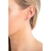 CZ Pave Crawler Earrings