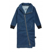 Maxi Denim Sweatshirt Dress (Toddler Girls & Little Girls)