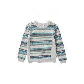 Reverse French Terry Stripe Sweatshirt (Little Boys)