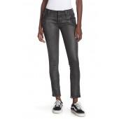 Skinny Zip Coated Moto Jeans