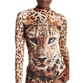 Leopard Rash Guard