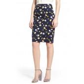Martha Floral Pencil Skirt