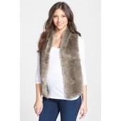 Gwen Faux Fur Maternity Vest