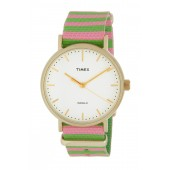 Womens 3-Hand Canvas Strap Watch, 37mm