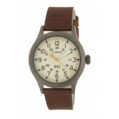 Mens Allied Leather Strap Watch, 40mm