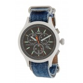 Mens Allied Chronograph Denim Strap Watch, 42mm