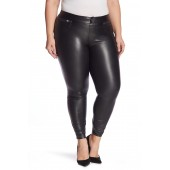 Leatherette Faux Leather Leggings (Plus Size)