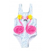 3D Flamingos One-Piece Swimsuit (Baby & Toddler Girls)