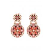faux pearl desert garden drop earrings