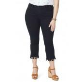 Sheri High Rise Tassel Hem Ankle Slim Jeans (Plus Size)