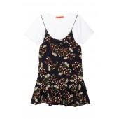 Tee & Printed Skirt  2-Piece Set (Toddler, Little Girls, & Big Girls)