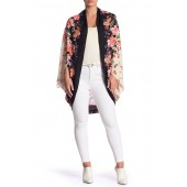 Floral Long Sleeve Cocoon Cardigan