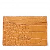 Burnished Alligator Card Case