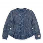 Aran Cotton Peplum Sweater