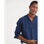 Classic Fit Indigo Linen Shirt