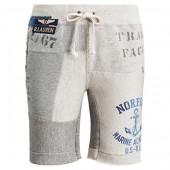Patchwork Cotton-Blend Short