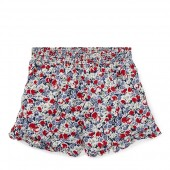 Floral Ruffled Challis Short