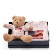 Flag Sweater  Polo Bear Set