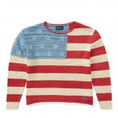 Flag Cotton Rollneck Sweater