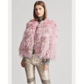 Maria Shearling-Feather Jacket