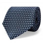 Triangle-Print Silk Tie