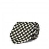 Gingham-Print Wool Tie