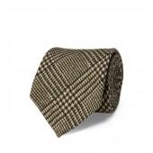 Glen Plaid-Print Wool Tie