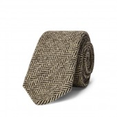 Wool-Blend Herringbone Tie