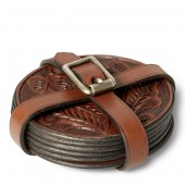Tooled Leather Coaster Set