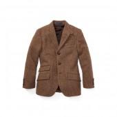 Tick-Weave Wool Sport Coat