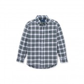 Plaid Cotton Oxford Shirt