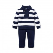 Striped Cotton Top  Pant Set