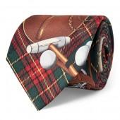 Saddle Tartan Silk Narrow Tie