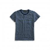 Indigo Striped Cotton T-Shirt