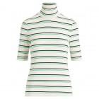 Striped Knit Turtleneck