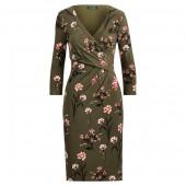 Surplice Jersey Dress