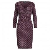 Print Surplice Jersey Dress