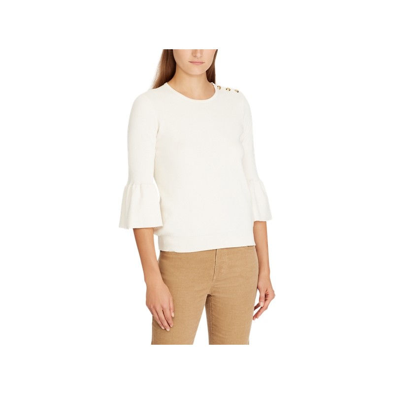 [폴로 랄프로렌] Button-Shoulder Cotton Sweater