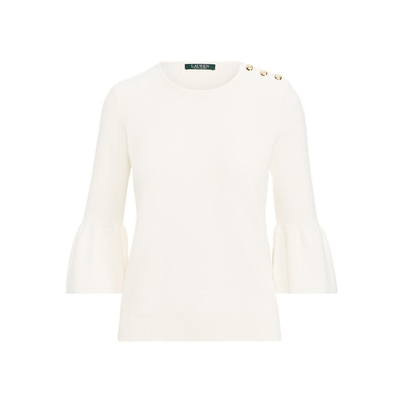 [폴로 랄프로렌] Button-Shoulder Cotton Sweater