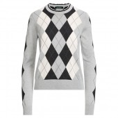 Argyle Silk-Blend Sweater