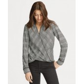 Glen Plaid Wrap Top