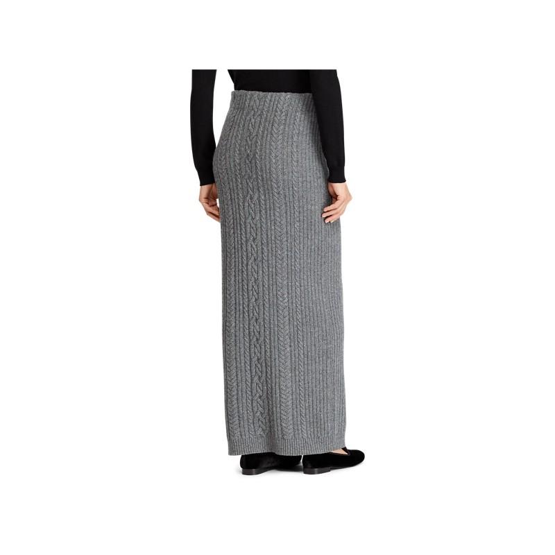 [폴로 랄프로렌] Cable Wool-Cashmere Midi Skirt