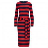 Striped Tie-Waist Dress