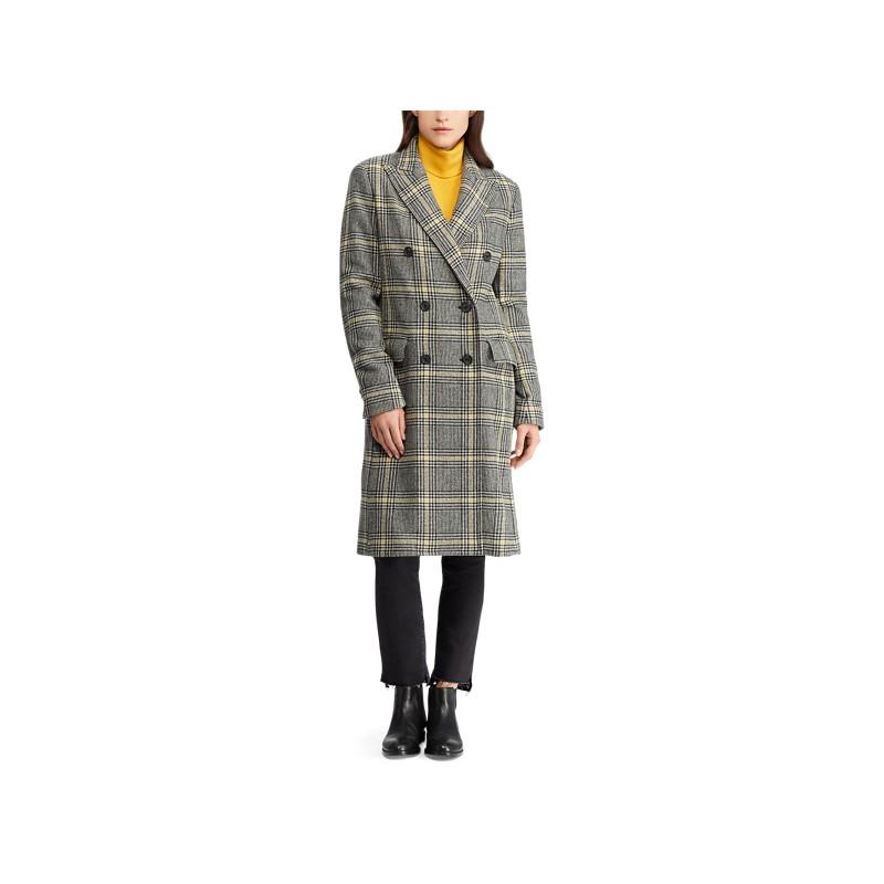 [폴로 랄프로렌] Plaid Wool-Blend Trench Coat