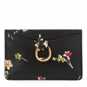 Floral Leather Card Case