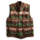 Boiled Wool Jacquard Vest