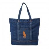 Denim Big Pony Tote Bag