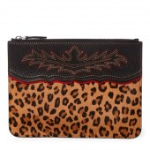 Leopard Haircalf Pouch